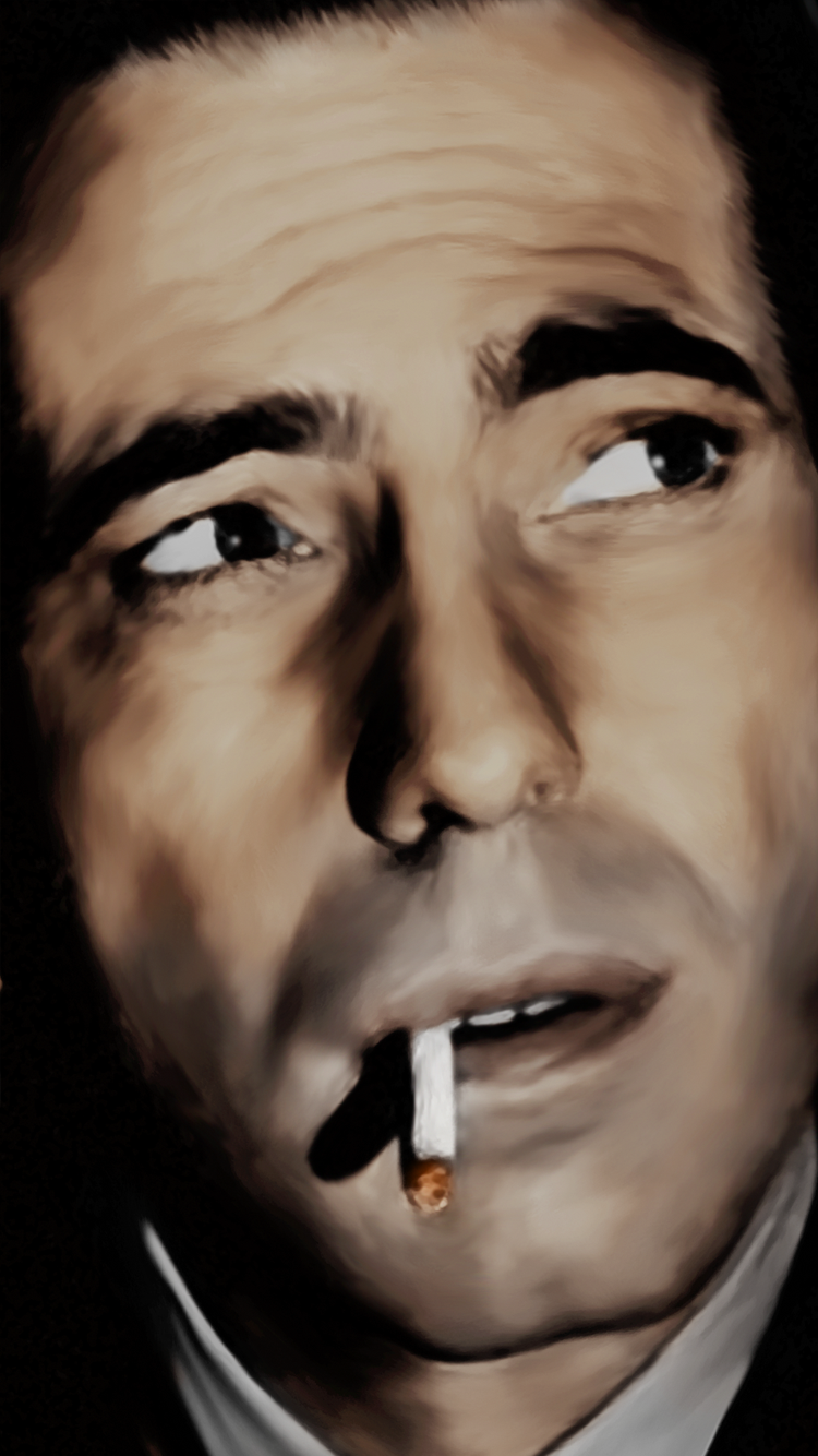 Humphrey Bogart Painting